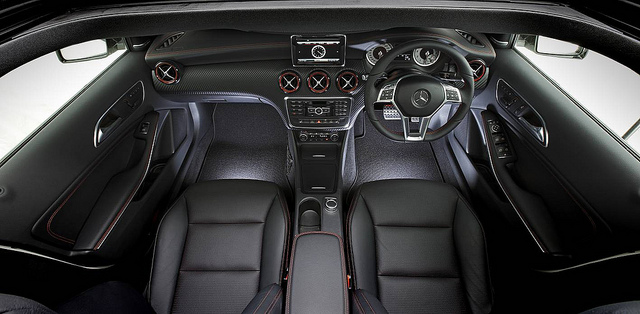 merc benz interior